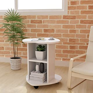 DL furniture - Small Coffee Table Bedside Cabinet Sofa Small Side Table | White