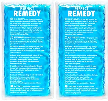 Large Ice Pack for Injury (Set of 2) – Perfect Remedy Gel Cold Packs for Injuries, Pain Relief, Rehabilitation, Flexi...