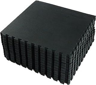 VLFit Esterilla Puzzle de Fitness – 18 losas de Goma Espuma + Bordes | Protección para el Suelo | para máquinas de Deporte y gimnasios sobre el Piso | Fácil de Limpiar
