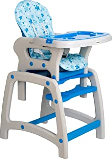 Dearbebe 3-in-1 Infant High Chair with Tray,Blue