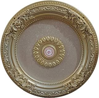 AFD Home BAN-BRRD62-G-05 Rose Gold Ceiling Medallion, White