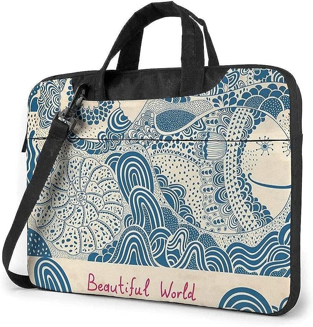Fish and Whales safety Art Laptop Bag Messenger Max 55% OFF Shockproof Shoulder Not