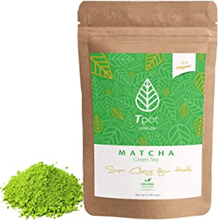 ORGANIC Japanese Matcha Green Tea Powder - 100 Grams - 200 Serves - CEREMONIAL GRADE Matcha Green Tea Powder - Ideal for M...