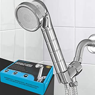 PureAction Luxury Filtered Shower Head with Handheld Hose - Hard Water Softener - Chlorine & Flouride Filter - 3 High Pressure Spray Settings & Water Saving - Ionic Showerhead for Best Filtered Shower