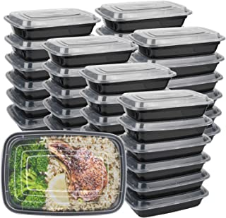 Meal Prep Containers with Lids 50Pack - Bento Box - Durable BPA Free Plastic Reusable Food Storage Containers - Stackable,...