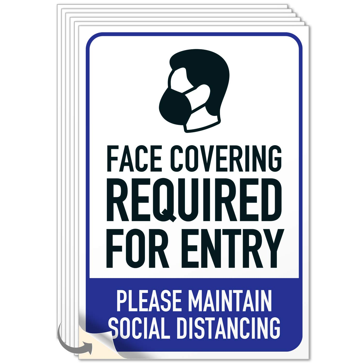 Face Mask Required Sign Social 4 Distancing Inches Popular Baltimore Mall popular 10x7