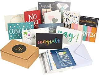 36 Pack Assorted All Occasion Greeting Cards - Includes Assorted Congratulations, Hello, Thank You Cards - Bulk Box Set Variety Pack with Envelopes Included, 4 x 6 Inches
