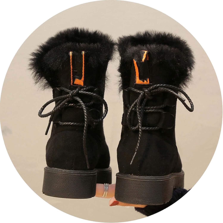 Fairy music Plüsch Schneestiefel Schneestiefel Damen Winter Warm Schneeschuhe Damen Stiefeletten Winterstiefel Damen Schuhe  70% Rabatt