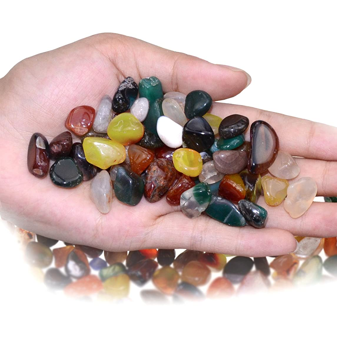 KINGOU Replacement Mancala Stones Mixed Colored Pebbles/Beads/Gems for Games