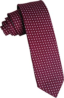 Simpowe Mens Polka Dot Tie Formal Cotton Skinny Tie 2.36 Inches