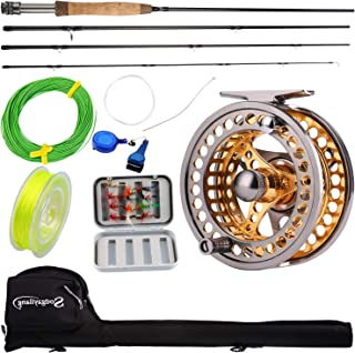 Sougayilang Fly Fishing Rod Reel Combos with Lightweight Portable Fly Rod and CNC-machined Aluminum Alloy Fly Reel,Fly Fis...