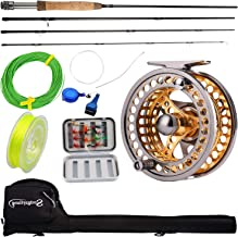 Sougayilang Fly Fishing Rod Reel Combos with Lightweight Portable Fly Rod and..
