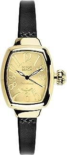 Glam Rock Miami Beach Art Deco MBD27152N 31X26mm Stainless Steel Case Black Calfskin Mineral Women's Watch