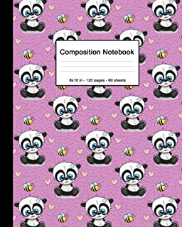 Composition Notebook: Blank College Ruled Paper Notebook | Matte Medium Lined Workbook for Boys Girls Kids Teens Students...