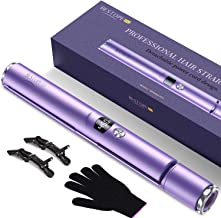 BESTOPE Hair Straightener and Curler 2 in 1 Flat Iron for Hair with Detachable Power Cord Tourmaline Ceramic Hair Straight...