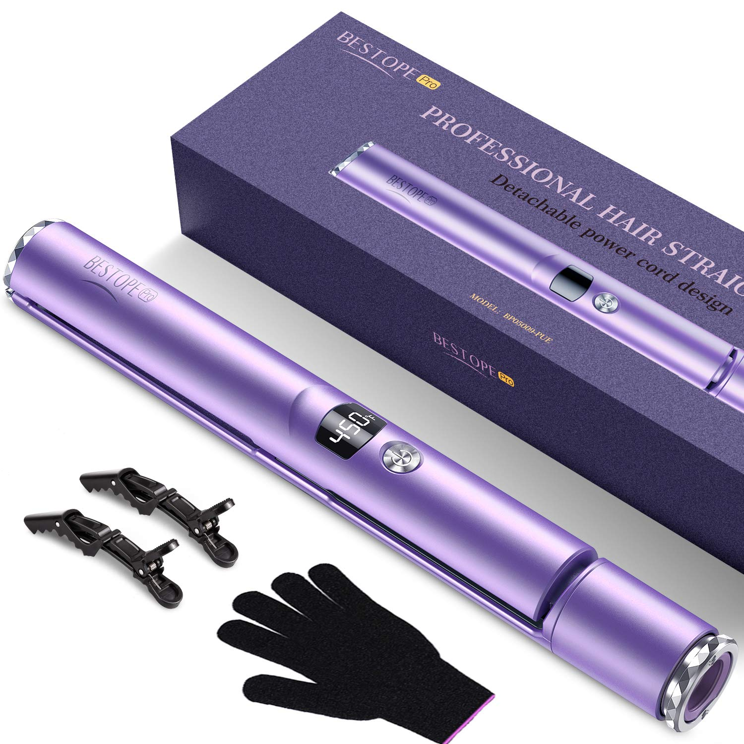 BESTOPE Hair Straightener and Ranking TOP12 Curler 2 1 for in Iron w Flat Miami Mall