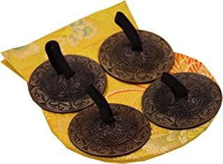 DharmaObjects Belly Dancing - OM Pro Finger Zills or Cymbals 2 Pair/4pcs Antique 6cm