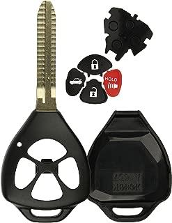 KeylessOption Keyless Entry Remote Key Fob Shell Key Blade Case For Toyota Camry Corolla Rav4 Matrix Venza Yaris