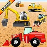Rompecabezas con vehículos y excavadoras para bebés y niños: jugar con las máquinas de...