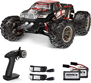 RC Cars 40KM/H High Speed Remote Control Truck for Adults Kids 1:16 4WD Off Road Monster Trucks 2.4GHz Racing Car Toy All Terrain Climbing Vehicle w/ 2 Rechargeable Batteries Gifts for Boys