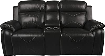 Amazon.com: Cannon Leather Power Reclining Loveseat: Kitchen ...