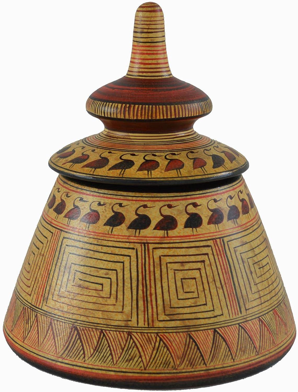 descuentos y mas Minoan pottery Pyxis–antigua Creta–hecho a a a mano en Grecia–réplica tema  suministramos lo mejor