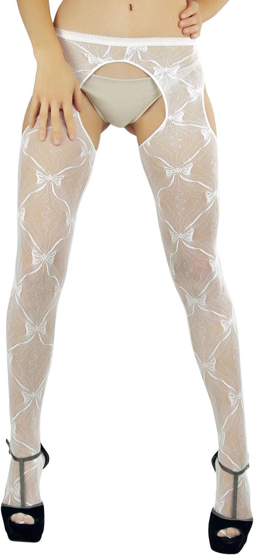ToBeInStyle Women's Delightful and Unique Sheer Suspender Pantyhose