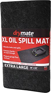 Drymate XL Oil Spill Mat (36 Inches x 60 Inches), Premium Absorbent Oil Mat – Reusable/Durable/Waterproof – Oil Pad Contains Liquids, Protects Garage Floor Surface (Made in The USA)