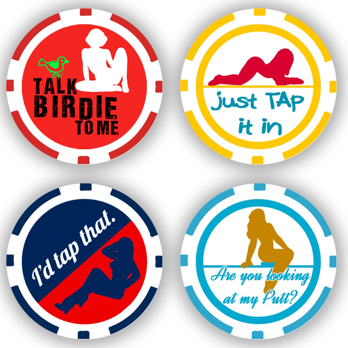 DA VINCI Golf Ball Marker Poker Chip Collection, 11.5 Gram Chips