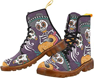 Artsadd Fashion Shoes Running Horse Lace Up Boots for Women