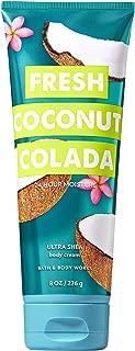 Bath and Body Works Fresh Coconut Colada Ultra Shea Body Cream (24 Hour Moisture) 8 Ounce