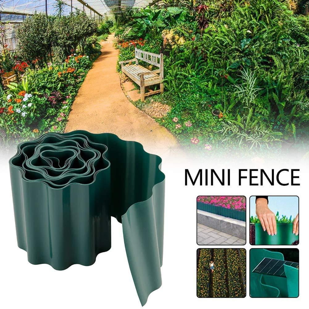 MTDH Borde de Borde de jardín, Borde de Rollo de Tira de Borde de jardín de plástico Flexible para protección de Flores (9M * 15CM): Amazon.es: Jardín