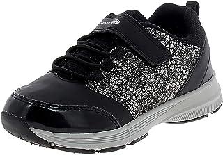 حذاء رياضي HOSHIKO للفتيات من Geox يغلق بشريط مطاطي، أسود أوروبي/12، أسود أكسفورد، 30 M EU طفل صغير (12 US)