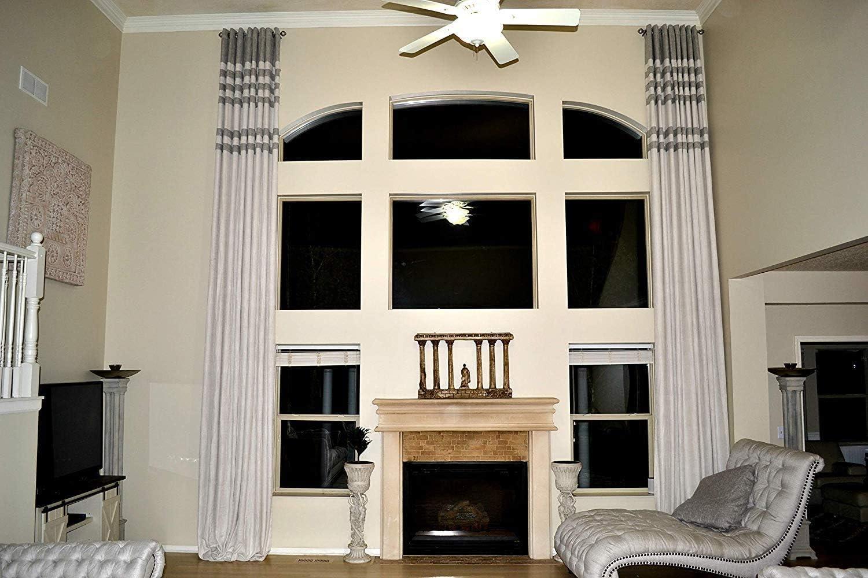 Ikiriska Extra Super-cheap Long Luxury Ranking TOP16 Solid top Custo Curtain Grommet Linen