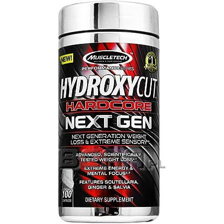 Hydroxycut Weight Loss Pills for Women & Men, Hardcore Next Gen, Weight Loss Supplement Pills, Energy Pills, Metabolism Booster for Weight Loss, Weightloss & Energy Supplements, 100 Pills