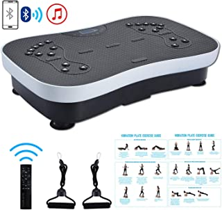 TODO Vibration Platform Power Plate Whole Body Vibrating Massager, Remote Control/Bluetooth Music/USB Connection/Resistance Bands