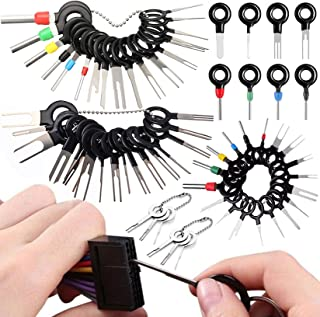 Vignee 60pcs Terminal Removal Tool kit,Pins Terminals Puller Repair Removal Tools for Car Pin...