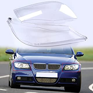 Supper-Supply Headlight Lens Cover, Headlamp Lenses Glass Replacement for BMW 3-Series E90 Sedan 2005-2008 Pre-Facelift (only Fit for The Halogen Headlight)