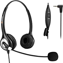 Phone Headset 2.5mm, Telephone Headset with Noise Canceling Mic for AT&T Panasonic..