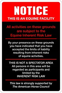 StickerPirate Notice This is an Equine Facility 8
