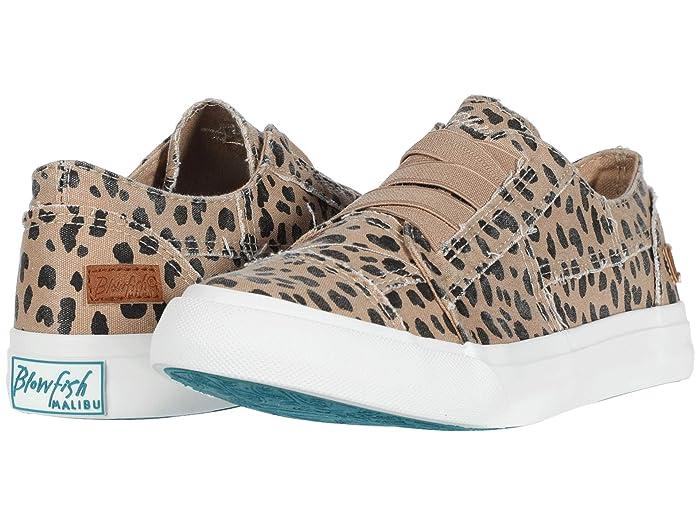 Blowfish  Marley (Latte Spots Print Canvas) Womens Flat Shoes