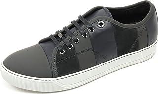 Lanvin C2874 Sneaker Uomo VEGO Scarpa Grigio Scuro Multi Stripes Shoe Man