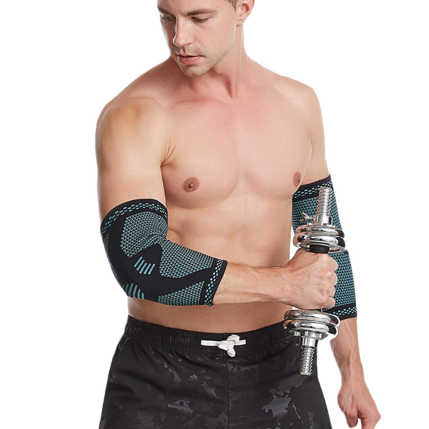 MEDGUARD Codera para hombres y mujeres, manga de compresión perfecta para el codo de tenis, codo de golfista, levantamiento de pesas, tendinitis y alivio del dolor en las articulaciones (M)