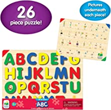 The Learning Journey: Lift & Learn ABC Puzzle - Pictures Underneath Each Piece - Alphabet and Phonics Learning Toy