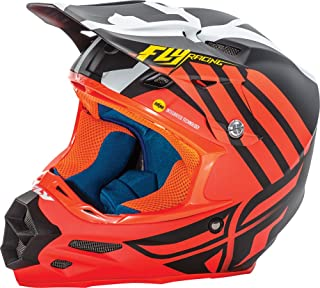 Fly Racing Unisex-Adult Full-face Style F2 Carbon Mips Zoom Helmet (Matte Orange/Black/White, X-Small)