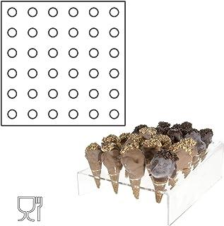 Avà srl Présentoir Cornets à Glace plexi Transparent – 36 Trous - Dimensions: 32 x 32 x H5cm