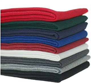 Knit Rib Elastane Waistbands Ribbing Strip, Neotrims Stretch 2 x 2 Fabric Material, Soft Handle, Great Recovery Resilient. Use Garment Cuffs, Collars, Welt Edge. 100cms x 20cms Panel. UK Made