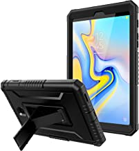 TiMOVO Cover Compatible for Samsung Galaxy Tab A 8.0, Shockproof Heavy Duty Full Body Rugged Protective Cover Stand Shell with Screen Protector Fit Galaxy Tab A 8.0 2018 Release Model T387 - Black