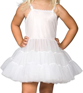 I.C. Collections Little Girls White Bouffant Slip Petticoat Extra Full, 2T - 6X