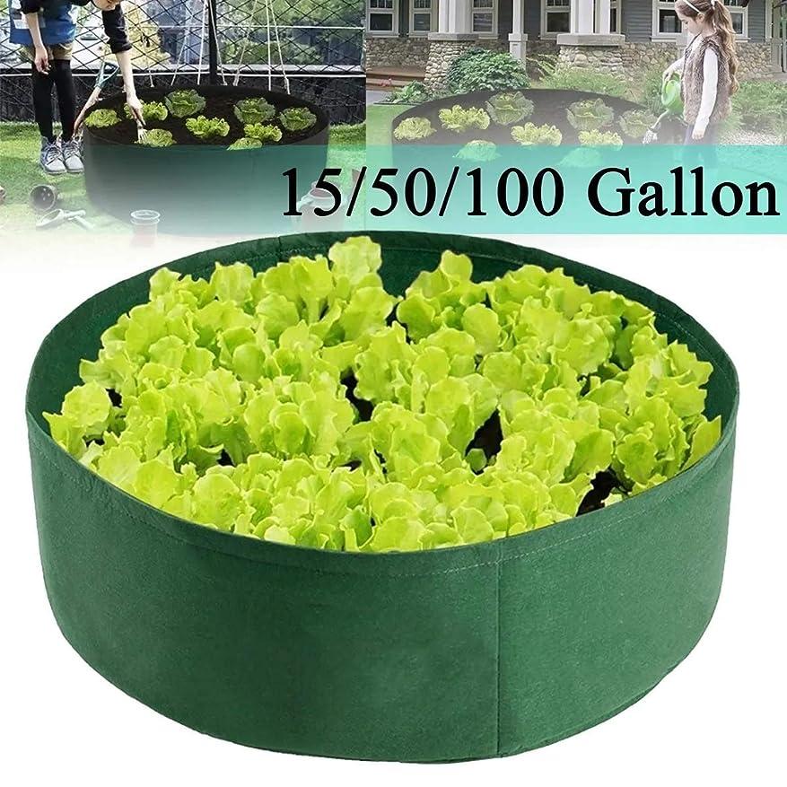 側溝おいしい帰するNfudishpu Plant Grow Bags 5Pcs植栽栽培バッグボックス育てられた植物のベッドガーデンフラワープランター高架野菜ボックスジャガイモ栽培バッグ(色:緑、サイズ:L)
